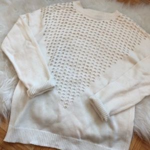 White Women's Charlotte Russe Knit Sweater